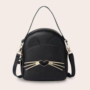 Cat Design Curved Top 🎒 Backpack